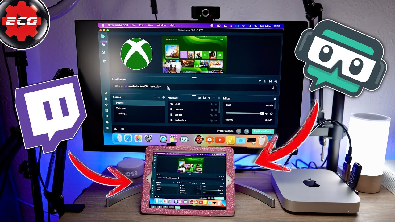 Usar iPad como monitor extendido para streamings