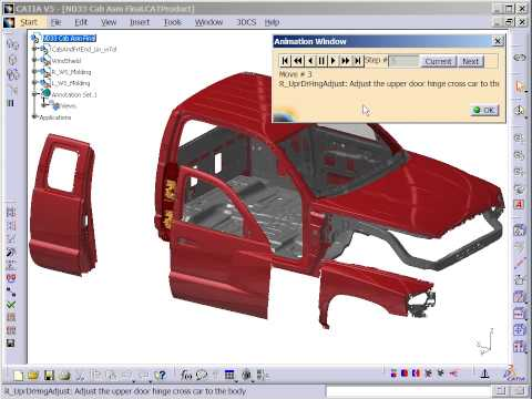 Animate Assembly Sequences in CATIA V5 with 3DCS