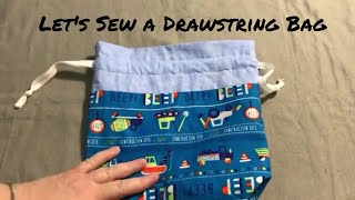 Sew a drawstring project bag with me