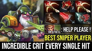 CRIT EVERY SINGLE HIT - Cancer Sniper Build 2x Daedalus + Crystalys 90% Crit Hack 2Hits=K O Dota 2