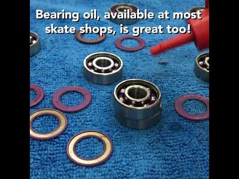 54-second roller skate bearing cleaning tutorial