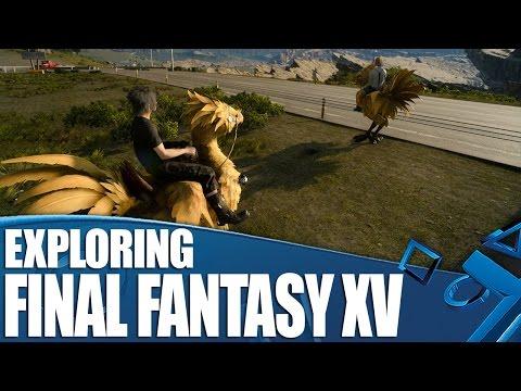 [Final Fantasy XV] Final Fantasy XV Gameplay - Exploring Eos By Car, Foot & Chocobo