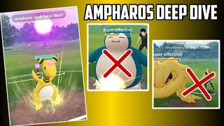 Ampharos Deep Dive for Ultra League in Pokemon Go!