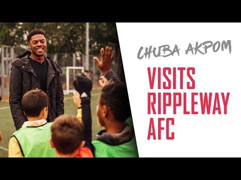 Chuba Akpom revisits his football roots at Rippleway FC