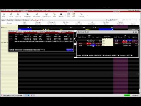 Placing Option spread Trades
