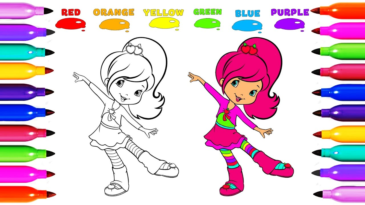 draw coloring strawberry shortcake princess cute learn colored for