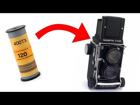 How To Load Medium Format 120 Film (Mamiya C220)