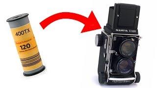 How To Load Medium Format 120 Film (Mamiya C220)