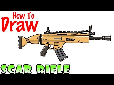 How To Draw The SCAR Rifle | Fortnite