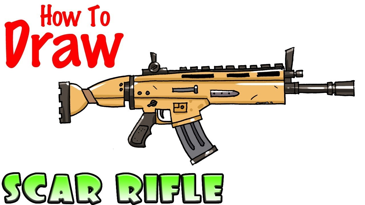 How To Draw The Scar Rifle Fortnite Clipzui Com