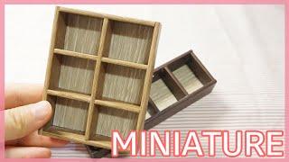 미니어쳐 나무 책꽂이 (나무 필요X) Miniature…