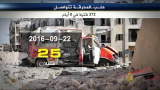 النظام السوري وروسيا يواصلان محرقتهما بحلب