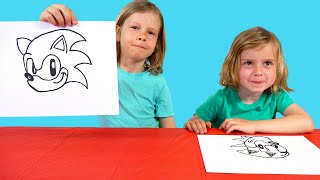 How to Draw Sonic the Hedgehog | Kids Drawing Challenge