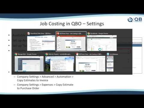 Job Costing in QuickBooks Online (QBO) with the NEW Projects Feature – QB Power Hour