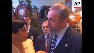 SWITZERLAND: GENEVA: FIDEL CASTRO INDONESIA PRESS CONFERENCE