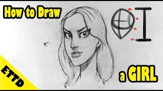 How to Draw a Girl (head) - Easy Things to Draw