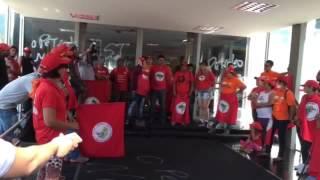 Jandira, da CUT, fala sobre greve dos petroleiros na ocupação do MME