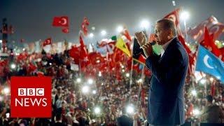 Turkey coup: Massive Istanbul rally hails Erdogan - BBC News