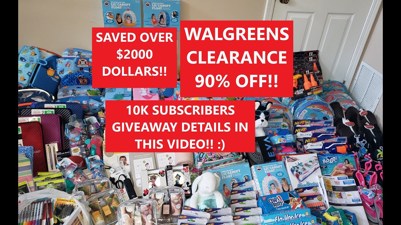 WALGREENS CLEARANCE & HIDDEN CLEARANCE! 90% OFF! RETAIL ARBITRAGE! GIVEAWAY DETAILS IN THIS VIDEO!