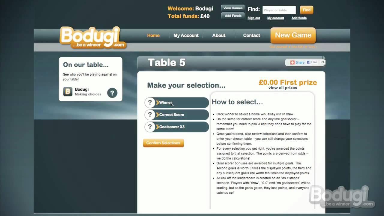 Bodugi free betting u o betting lines