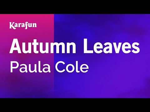 Karaoke Autumn Leaves - Paula Cole *