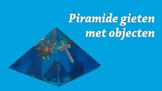 Piramide Orgonite gieten met Epoxy Resin