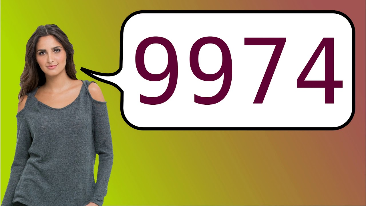How to say '9974' in French?