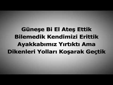 Çağatay Akman Bizim Hikaye karaoke sözleri lyric 2018