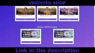 FORTNITE ACCOUNTS CHEAPEST AND SAFE SHOP! BTC, PayPal