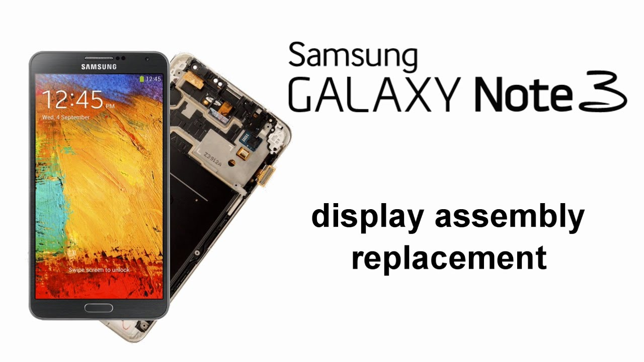 Samsung Galaxy Note 3 Display Replacement Touch Screen Lcd And Frame Touchscreen S3 Mini White Original Youtube