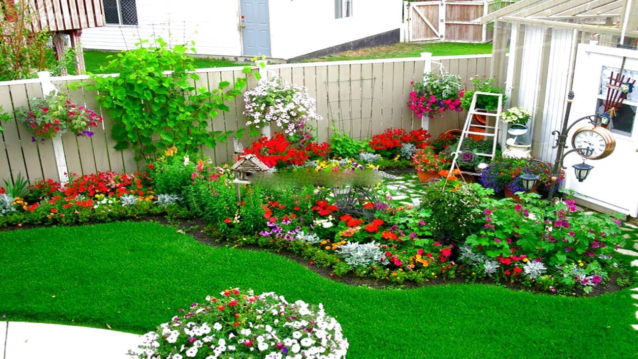 corner garden design ideas | small garden and flower design ideas |  landscape a corner garden