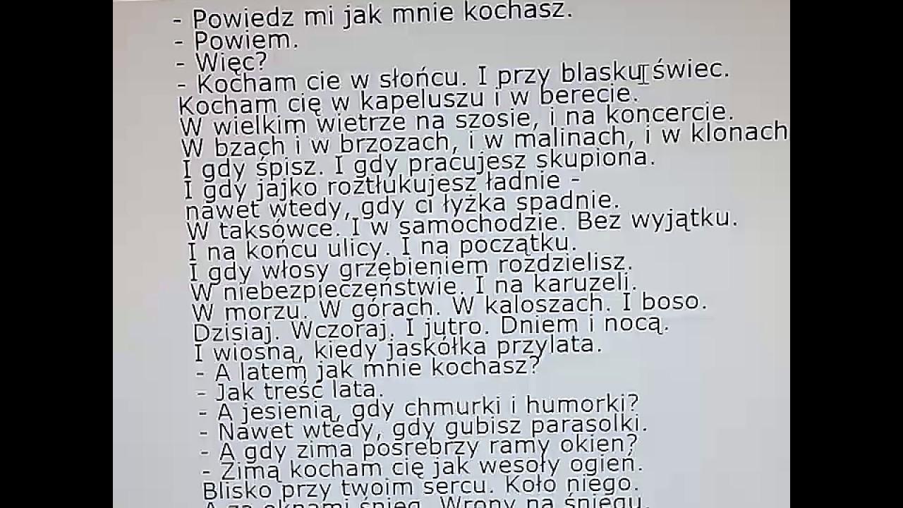 Konstanty Ildefons Gałczyński Rozmowa Liryczna Youtube