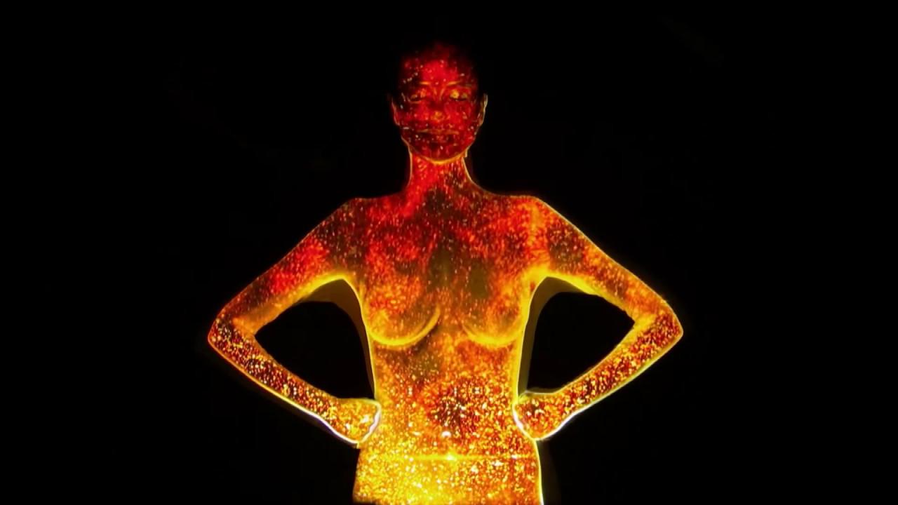 Heidi Klum Light Projection Body Suit Focused Edit Agt Oskar