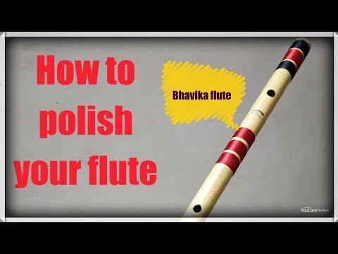 How to polish flute...  बाँसुरी को कैसे चमकाएं