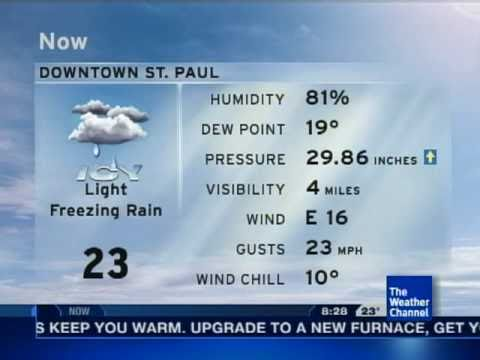 2-21-11 St. Paul, MN - TWC  *Winter Weather Advisory* 8:28 am