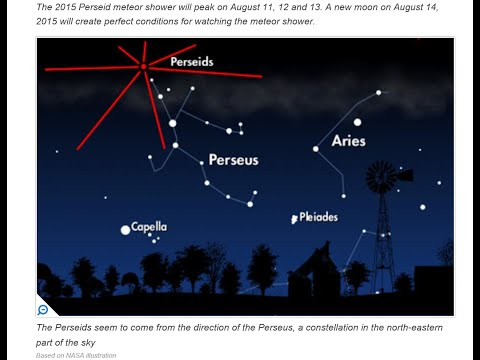 Live Skywatch August 11th...Perseids Meteor Shower 2015