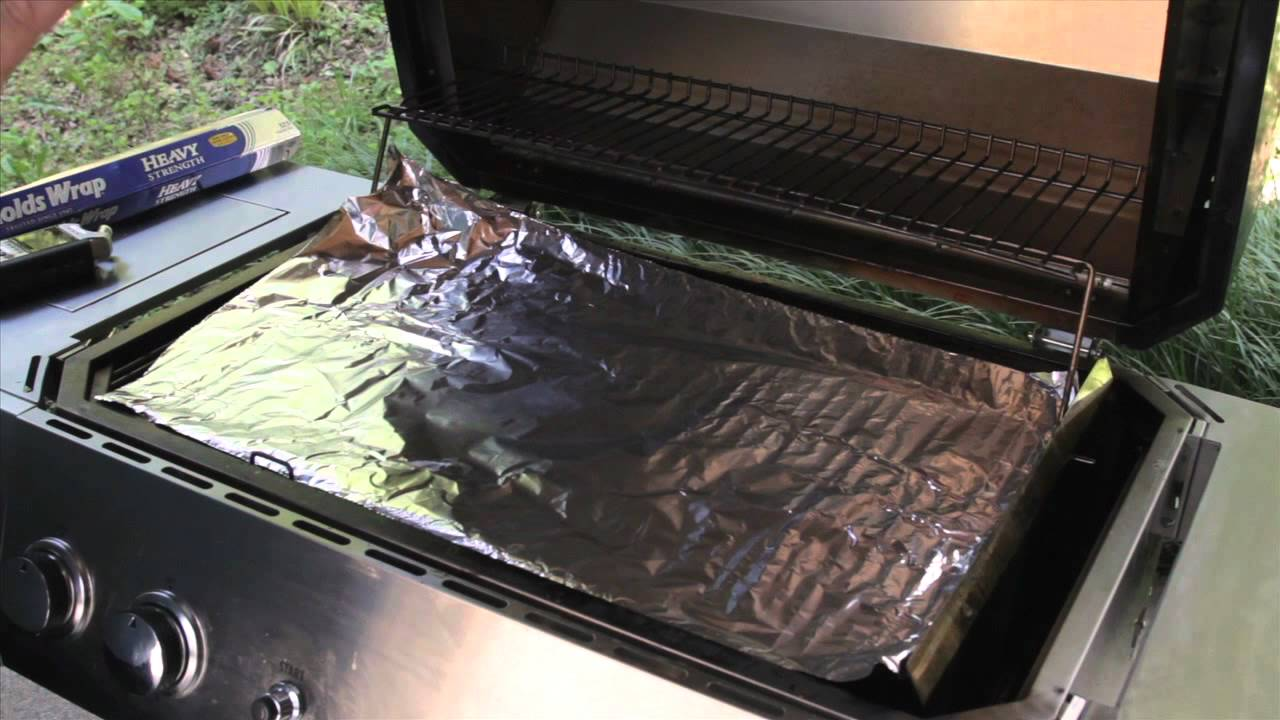 Cleaning Your Grill With Aluminum Foil  Big Poppas