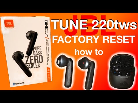 Jbl Tune 220tws Factory Reset How To Youtube