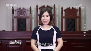 《律师来了》 20191019 俊逸的世界  CCTV社会与法