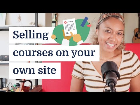 How to sell online courses from your website