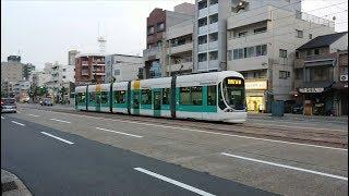 広島電鉄5100形5107号『Greenmovermax』広電本社前〜日赤病院前