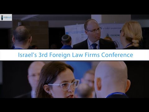 Welcome to Israel- Promo Video- Israel 3rd foreign law firms conference  Robus