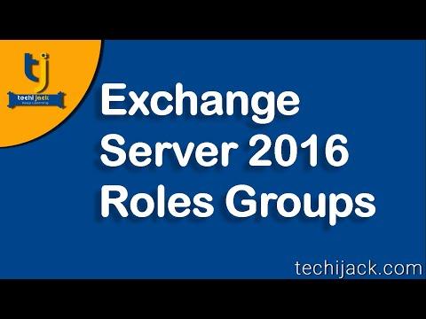 Exchange Server 2016 Roles Groups Exchange Services And Exchange Admin Center
