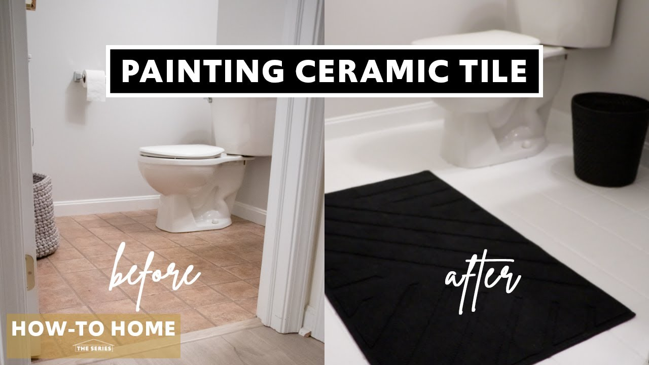 How To Paint Your Ceramic Tile Floor Ep 1 How To Home The Series Youtube