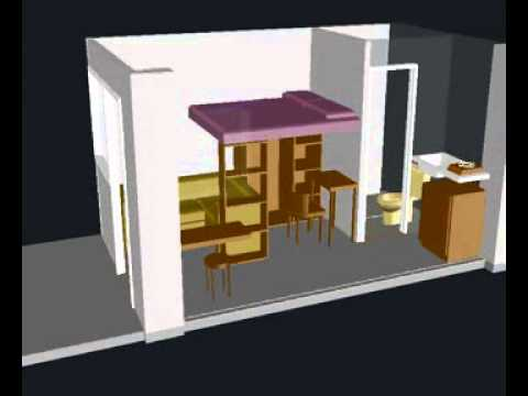 124 sqft. (11.5 sqm.) Studio model 3D pt.2