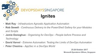 Day 1 ignites - DevOpsDays Singapore 2017