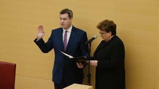Vereidigung des Bayerischen Ministerpräsidenten Dr. Markus Söder - Bayern