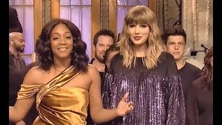 Taylor Swift and Tiffany Haddish on SNL Ending