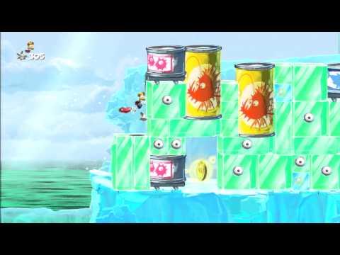 Rayman Legends Walkthrough Origins 3: A tortazos por la nieve - All Teensies/Todos los diminutos