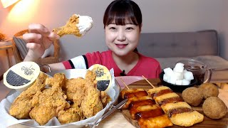 바삭한 뿌링클 닭다리치킨 치즈볼 뿌링소떡 빨간소떡 먹방…
